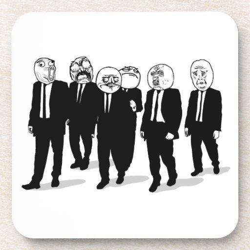 Rage Comic Meme Faces Walking. Me Gusta. Beverage Coasters