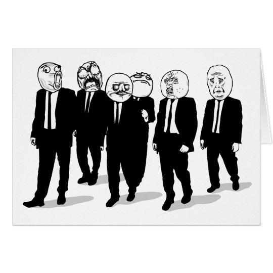 Rage Comic Meme Faces Walking. Me Gusta. Card