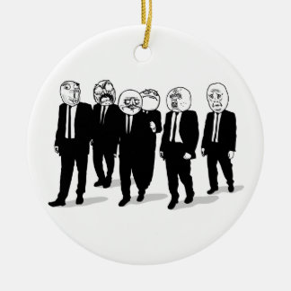 Rage Comic Meme Faces Walking. Me Gusta. Ceramic Ornament