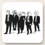 Rage Comic Meme Faces Walking. Me Gusta. Coaster