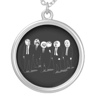 Rage Comic Meme Faces Walking. Me Gusta. Personalized Necklace