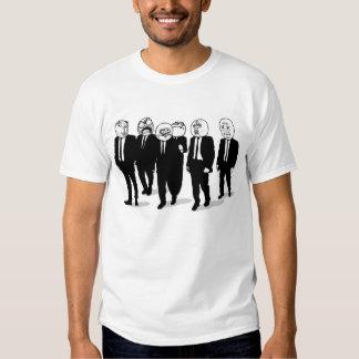 rage comic meme faces walking. me gusta. t-shirt
