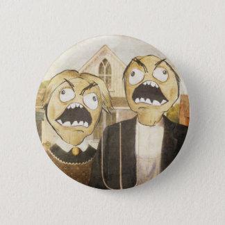 Rage Face Meme Face Comic Classy Painting Button