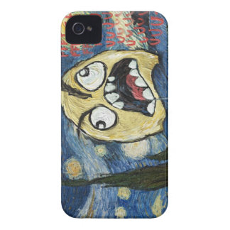 Rage Face Meme Face Comic Classy Painting iPhone 4 Case
