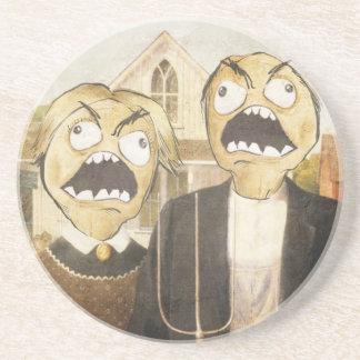 Rage Face Meme Face Comic Classy Painting Coasters