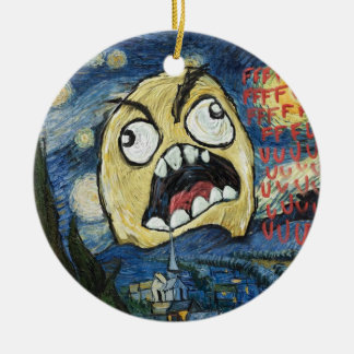 Rage Face Meme Face Comic Classy Painting Christmas Tree Ornaments