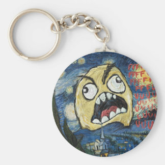 Rage Face Meme Face Comic Classy Painting Keychain