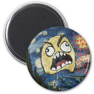 Rage Face Meme Face Comic Classy Painting Refrigerator Magnet