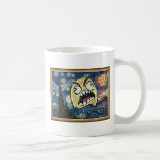 Rage Face Meme Face Comic Classy Painting Classic White Coffee Mug