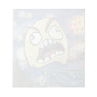 Rage Face Meme Face Comic Classy Painting Notepads