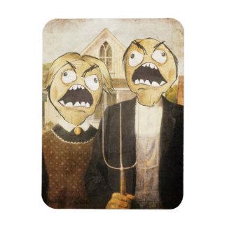 Rage Face Meme Face Comic Classy Painting Rectangular Photo Magnet
