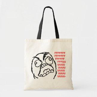 rage face rage comic meme lol rofl budget tote bag