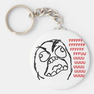 rage face rage comic meme lol rofl keychain