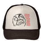 rage face rage comic meme lol rofl mesh hats
