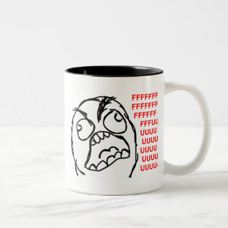 rage face rage comic meme lol rofl Two-Tone coffee mug