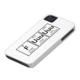 Rage Fuuuuuu Periodic Table Element Symbols iPhone 4 Cover