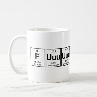 Rage Fuuuuuu Periodic Table Element Symbols Coffee Mug