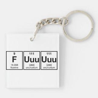 Rage Fuuuuuu Periodic Table Element Symbols Double-Sided Square Acrylic Keychain