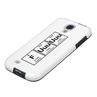Rage Fuuuuuu Periodic Table Element Symbols Galaxy S4 Case