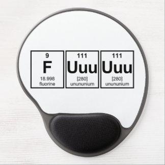 Rage Fuuuuuu Periodic Table Element Symbols Gel Mouse Pad