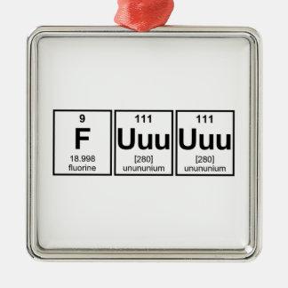Rage Fuuuuuu Periodic Table Element Symbols Metal Ornament