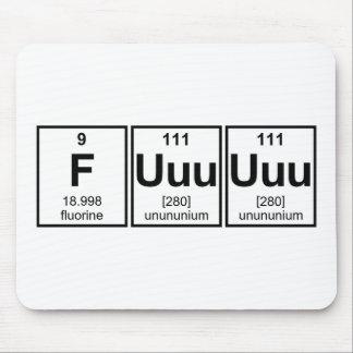 Rage Fuuuuuu Periodic Table Element Symbols Mouse Pad