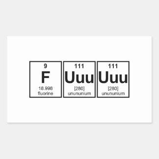 Rage Fuuuuuu Periodic Table Element Symbols Rectangular Sticker