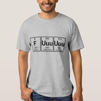 Rage Fuuuuuu Periodic Table Element Symbols Shirt