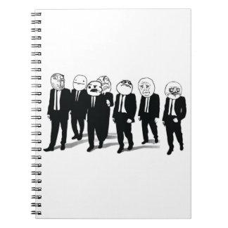 Rage Gang Vertical Notebook