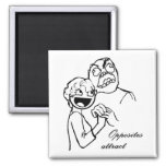 Rage Guy and Awesome Face 4evr 2 Inch Square Magnet