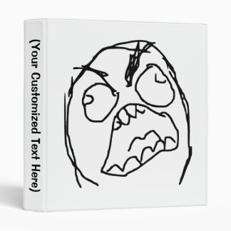 Rage Guy Angry Fuu Fuuu Rage Face Meme 3 Ring Binder