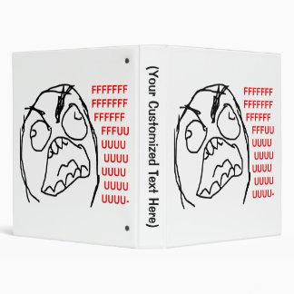 Rage Guy Angry Fuu Fuuu Rage Face Meme Vinyl Binder