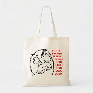 Rage Guy Angry Fuu Fuuu Rage Face Meme Budget Tote Bag