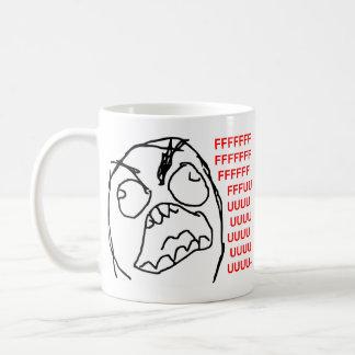 Rage Guy Angry Fuu Fuuu Rage Face Meme Coffee Mug