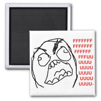 Rage Guy Angry Fuu Fuuu Rage Face Meme Magnet