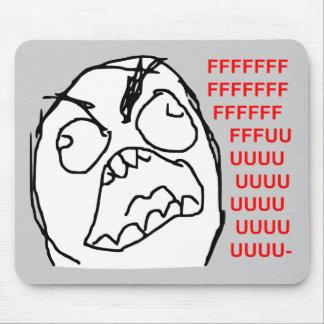 Rage Guy Angry Fuu Fuuu Rage Face Meme Mouse Pad