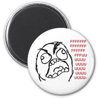Rage guy fuuu fuuuu 2 inch round magnet
