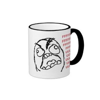 Rage guy fuuu fuuuu ringer coffee mug