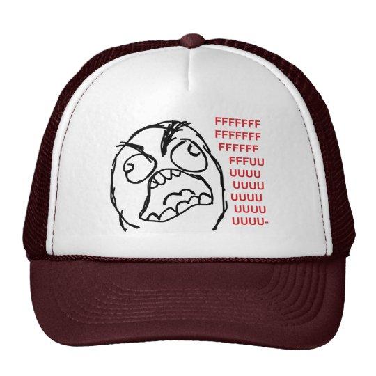 Rage guy fuuu fuuuu trucker hat