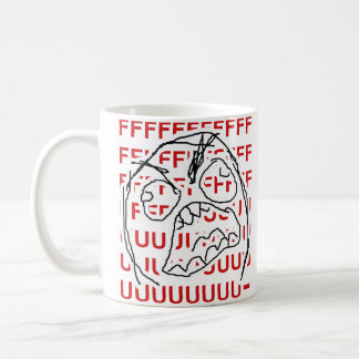 Rage Guy Classic White Coffee Mug