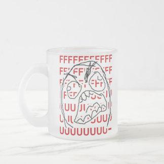 Rage Guy 10 Oz Frosted Glass Coffee Mug