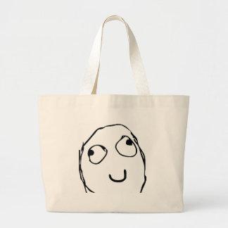 Rage Guy Smile Jumbo Tote Bag