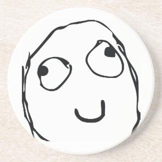 Rage Guy Smile Sandstone Coaster
