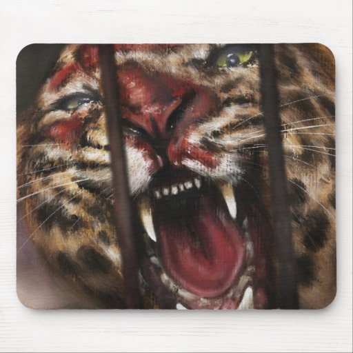 Rage in a Cage painting mousepad