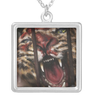 Rage in a Cage painting necklace