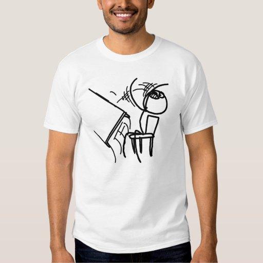 rage meme table flip face t shirt