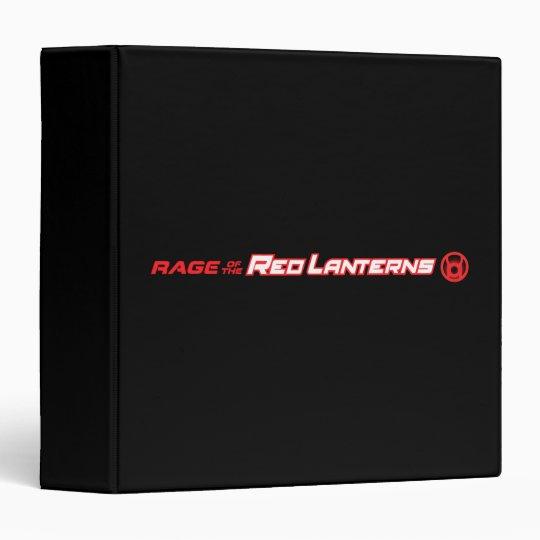 Rage of the Red Lanterns 3 Ring Binder