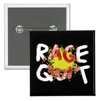 Rage Quit (Dark) Pinback Button