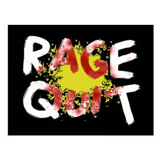 Rage Quit (Dark) Postcard