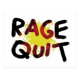 Rage Quit Postcard